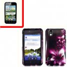 For LG Marquee LS855/ Optimus Black Cover Hard Case L-Flower +Screen