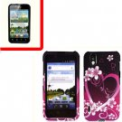 For LG Marquee LS855/ Optimus Black Cover Hard Case Love +Screen