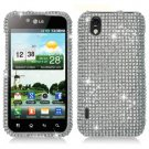 For LG Marquee LS855/ Optimus Black P970 Cover Hard Case Crystal Bling Clear