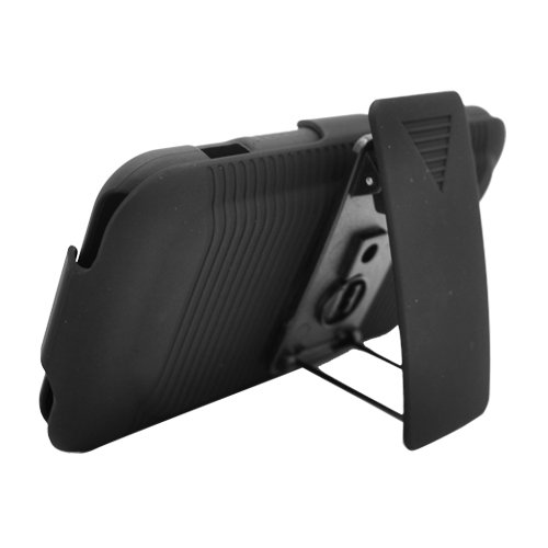 For HTC Droid Incredible 2 Cover Black Holster Belt Clp +Stand 3in1