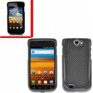 For Samsung Exhibit II 4G T679 Cover Hard Case Carbon Fiber +Screen Protector