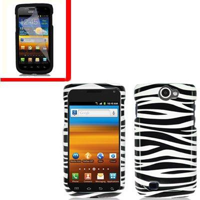 For Samsung Exhibit II 4G T679 Cover Hard Case Zebra +Screen Protector
