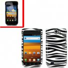 For Samsung Exhibit II 4G T679 Cover Hard Case Zebra +Screen Protector