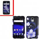 For AT&T Samsung Galaxy S II Skyrocket Cover Hard Case B-Flower +Screen
