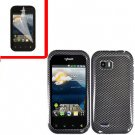 For LG MyTouch Q 4G Cover Hard Case Carbon Fiber +Screen