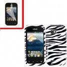 For LG MyTouch Q 4G Cover Hard Case Zebra +Screen