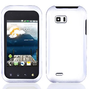 For LG MyTouch Q 4G Cover Hard Case Rubberized White