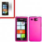 For Samsung Omnia W Cover Hard Case H-Pink +Screen 2 in1
