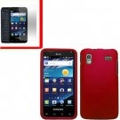 For Samsung Galaxy S Glide Cover Hard Case Red +Screen 2 in1
