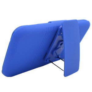 For Samsung Galaxy S II X Cover Blue Case + Blue Holster Belt Clp +Stand 3 in 1