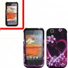 For LG MyTouch 4G / Optimus Sol Cover Hard Case Love +Screen 2in1