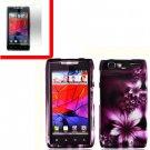 For Motorola Razr Cover Hard Case L-Flower +Screen 2-in-1