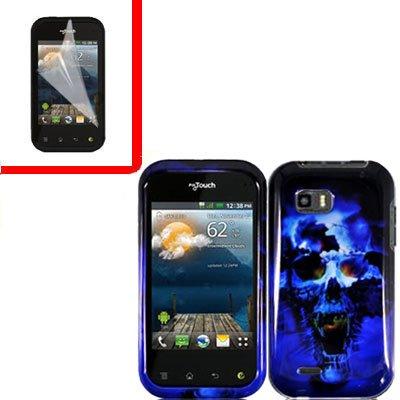 For LG Eclypse 4G Cover Hard Case B-Skull +Screen Protector