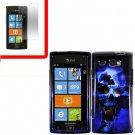 For Samsung Omnia W Cover Hard Case B-Skull +Screen 2 in1