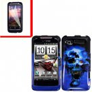 For HTC Radar 4G Cover Hard Case B-Skull +Screen Protector 2-in-1