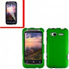 For HTC Radar 4G Cover Hard Case Green +Screen Protector 2-in-1