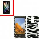 For Verizon LG Spectrum Cover Hard Case Zebra +Screen 2in1