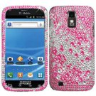 For Samsung Galaxy S II X Cover Hard Phone Case Crystal Bling Pink Water Drop