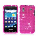 For Samsung Captivate Glide Cover Hard Phone Case Crystal Bling Pink