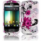 For LG Optimus One P500 Cover Hard Case W-Flower