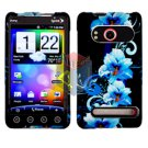 For HTC Evo 4G Cover Hard Case Flower +Screen 2-in-1