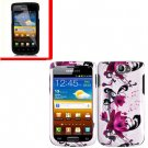 For Samsung Exhibit II 4G T679 Cover Hard Case W-Flower +Screen Protector