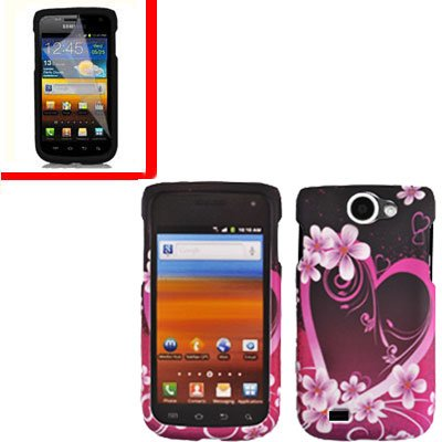 For Samsung Exhibit II 4G T679 Cover Hard Case Love +Screen Protector