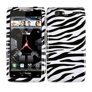 For Motorola Droid Razr Maxx Cover Hard Case Zebra