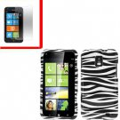For Samsung Focus S Cover Hard Case Zebra +Screen 2 in1