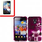 For Samsung Galaxy S II Epic 4G Touch D710 Cover Hard Case L-Flower +Screen 2 in1