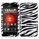 For Motorola Droid 4 XT894 Cover Hard Case Zebra