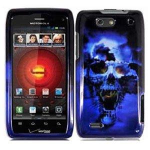 For Motorola Droid 4 XT894 Cover Hard Case Blue Skull