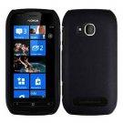 For Nokia Lumia 710 Cover Hard Black Case