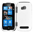 For Nokia Lumia 710 Cover Hard White Case