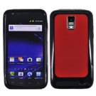 For Samsung Galaxy S II LTE Hard Red / Edge Soft Black Case GT-i9210