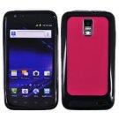 For Samsung Galaxy S II LTE Hard Pink / Edge Soft Black Case GT-i9210