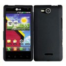 For Verizon LG Lucid 4G LTE Cover Hard Case Black