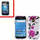 For AT&T Samsung Galaxy S II SGH-T989 Cover Hard Case W-Flower +Screen