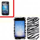 For AT&T Samsung Galaxy S II SGH-T989 Cover Hard Case Zebra +Screen