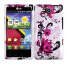For Verizon LG Lucid 4G LTE Cover Hard Case W-Flower