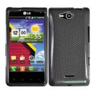 For Verizon LG Lucid 4G LTE Cover Hard Case Carbon Fiber