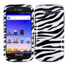 For Samsung Galaxy S Blaze 4G Car Charger +Hard Case Zebra Cover +Screen 3-in-1