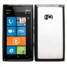 For Nokia Lumia 900 Case Soft Edge Black/ White Hard Cover + Screen