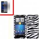 For HTC Vivid / Raider LTE 4G Cover Hard Phone Case Zebra + Screen 2-in-1