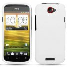 For HTC One S Cover Hard Phone Case White + Screen Protector 2-in-1