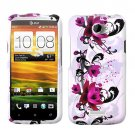 For HTC One X Cover Hard Phone Case W-Flower