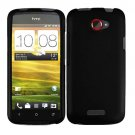 For HTC One X Cover Hard Phone Case Black + Screen Protector 2-in-1