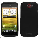 For HTC One S Car Charger + Cover Hard Case Black +Screen Protector