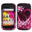 For Samsung Galaxy S Blaze 4G Car Charger +Hard Case Love Cover 3-in-1