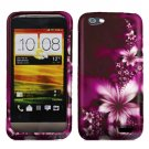 For HTC One V Cover Hard Phone Case L-Flower + Screen Protector 2-in-1